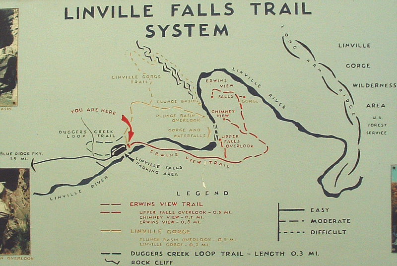 Linville Gorge - Babel Tower Trail is a hiking trail near Linville Falls, . Make sure to have a good map from the Forest Service before going on a hike.